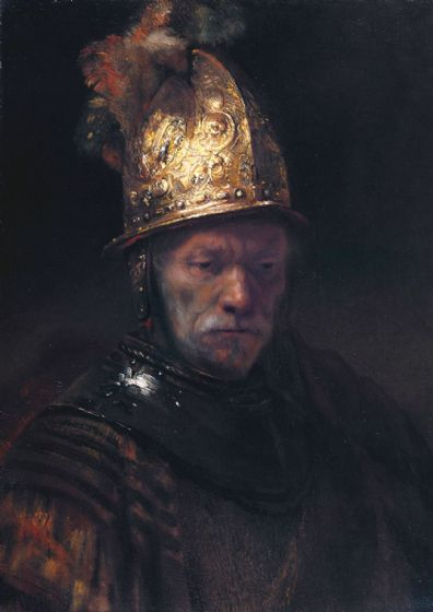Rembrandt (Circle of): The Man with the Golden Helmet. Fine Art Print/Poster. Sizes: A4/A3/A2/A1 (004295)